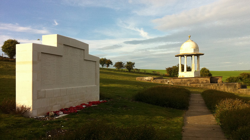 The Chattri memorial on the East Sussex South Downs near Patcham